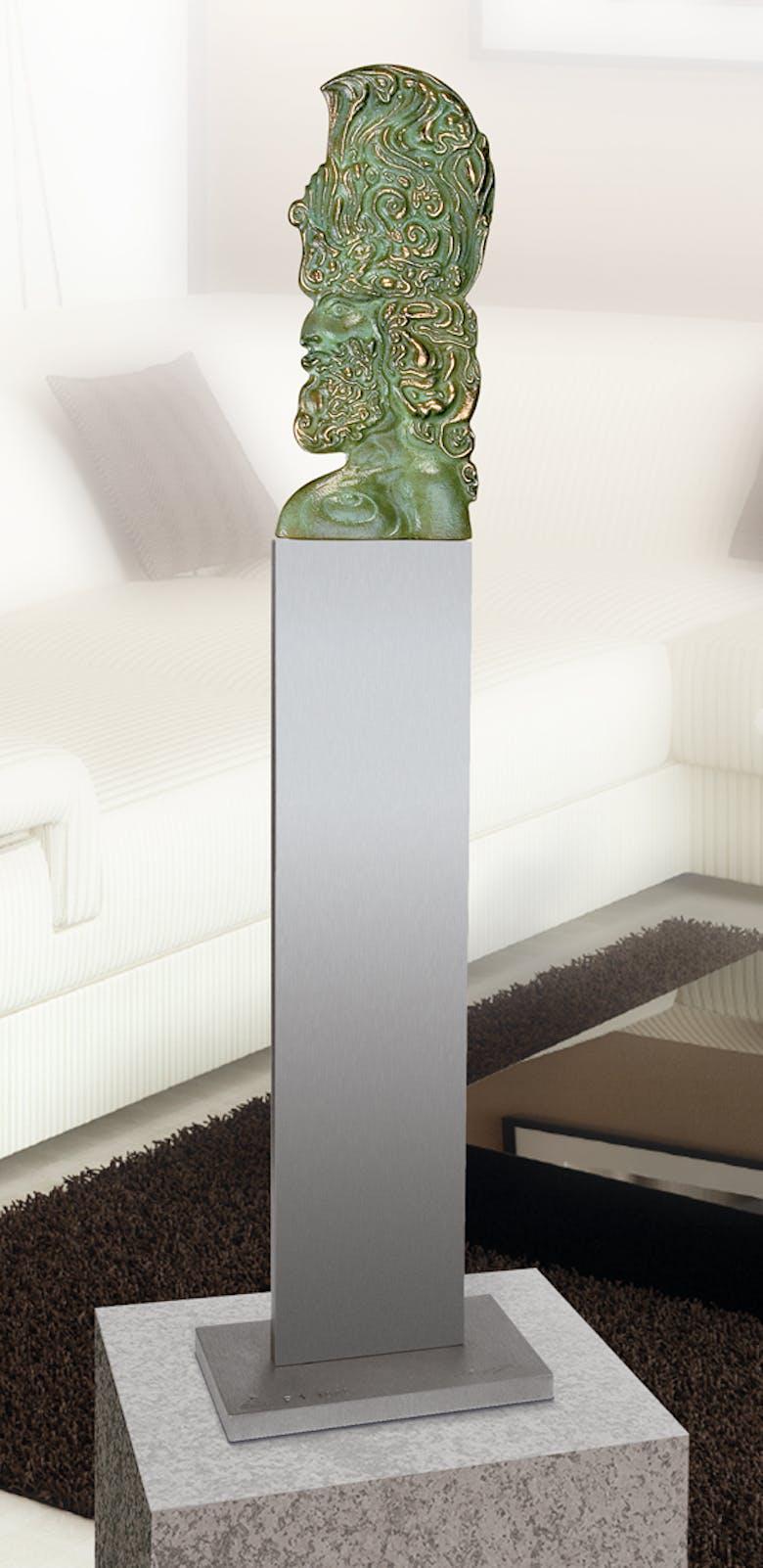 Bronzefigur Cherub, Tischvariante von Ernst Fuchs