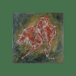 Bronzerelief »Stierkampf« von Nikolaus-Otto Kruch