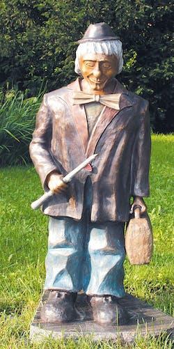 Bronzefigur Clown mit Flöte von Kurt u. Bruno Eggenberger