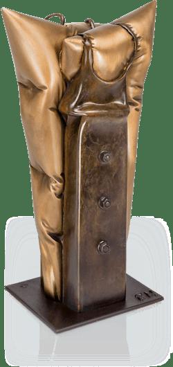Bronzefigur Corsage von Felix Haspel