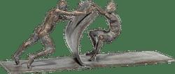 Bronzefigur »Gemeinsam bewegen« von Leo Wirth