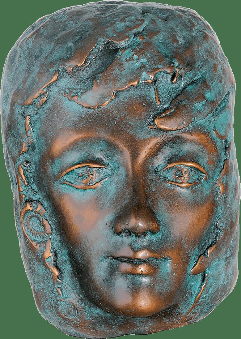 Bronzefigur Festfreude blau von Maria-Luise Bodirsky
