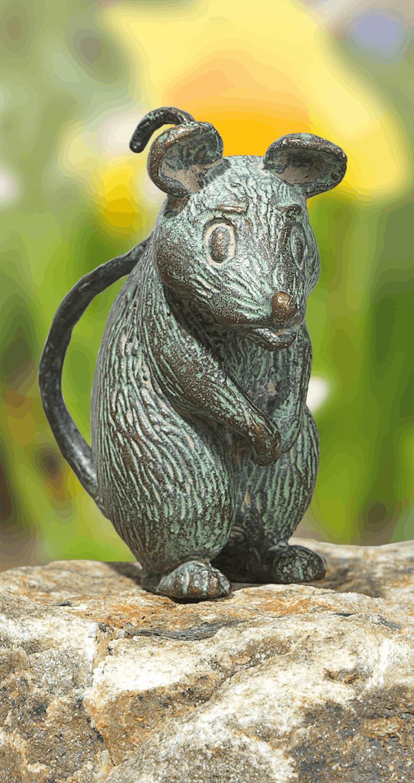 Bronzefigur Maus, stehend von Atelier Strassacker