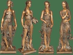 Bronzefigur Frühling, Sommer, Herbst, Winter als Set von Romano Cosci