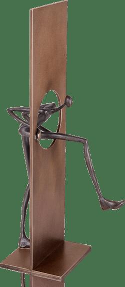 Bronzefigur Durchbruch von Patricia Losada Casanova