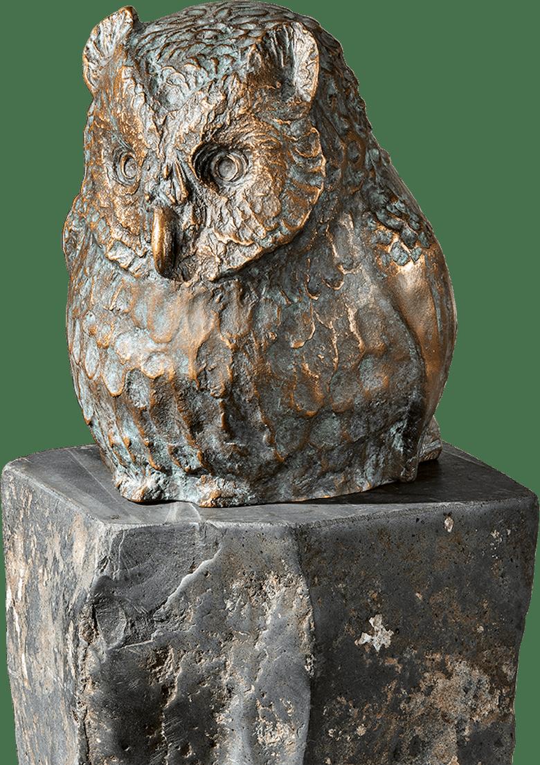 Bronzefigur »Eule« von Martin Schliessler