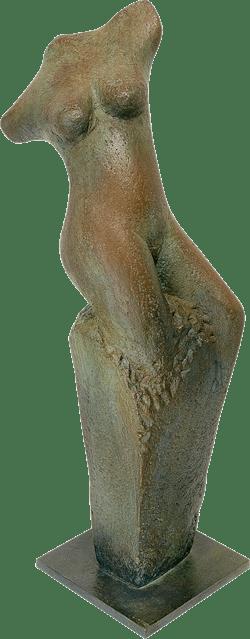 Bronzefigur Auferstehung des menschlichen Phönix von David Verstege