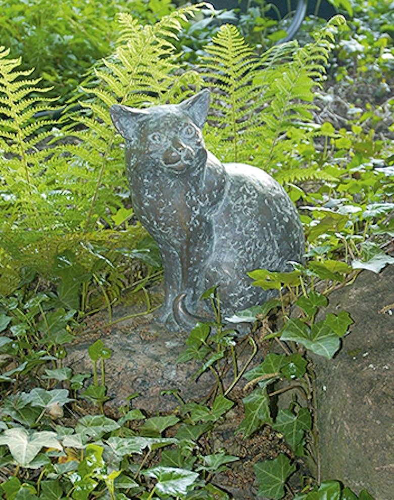 Bronzefigur Katze von Friedhelm Zilly