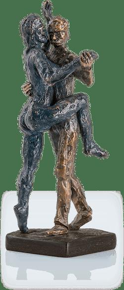 Bronzeskulptur-Tangopaar-Frühling