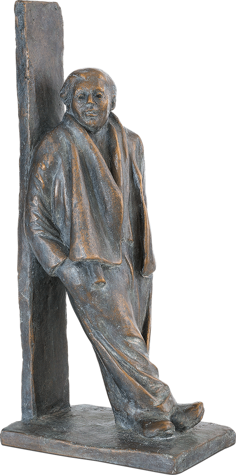 Bronzefigur Gelassenheit von Friedhelm Zilly