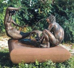 Bronzefigur Die Nixe von Kurt Grabert