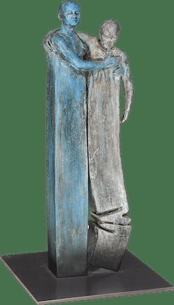 Bronzefigur Männerpaar von Annie Jungers