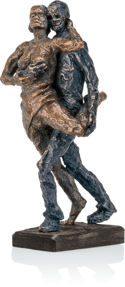 Bronzeskulptur-Tangopaar-Sommer