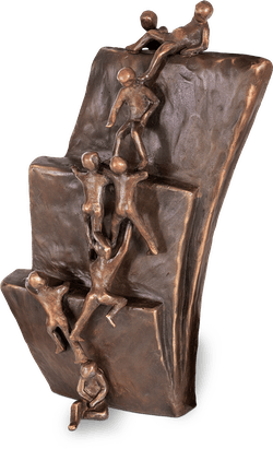 Bronzefigur Reality von Robert Simon