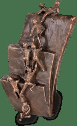 Bronzefigur Reality von Robert Simon