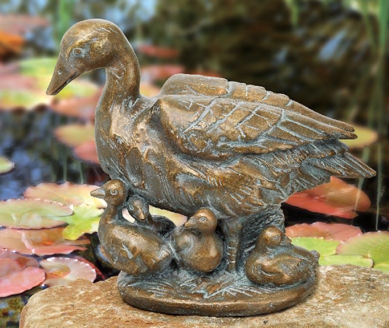 Bronzefigur Entengruppe von Atelier Strassacker