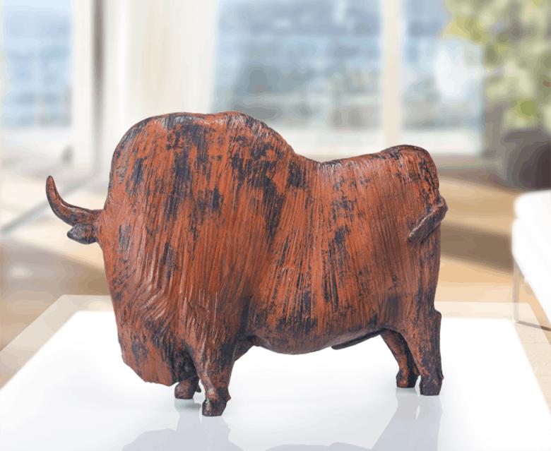 Bronzefigur Großer Stier von David Laugomer