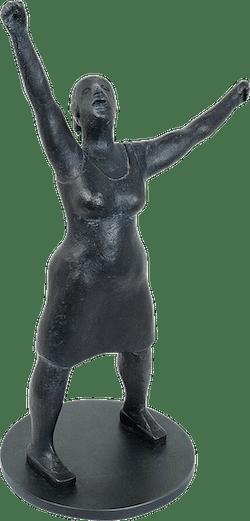 Bronzefigur Kleine Jubelnde von Ingrid Eva-Marie Mayer