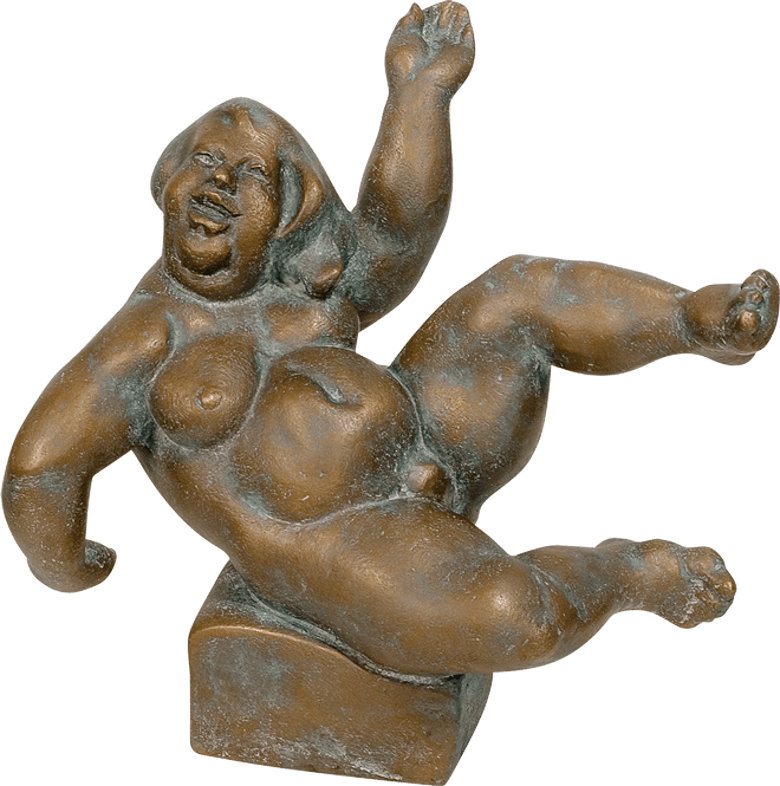 Bronzefigur Lebensfreude von Friedhelm Zilly
