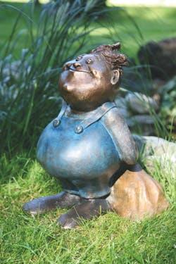 Bronzefigur Anton, der Chef von Catherine Boulogne