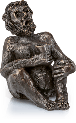 Bronzeskulptur-Bacchus