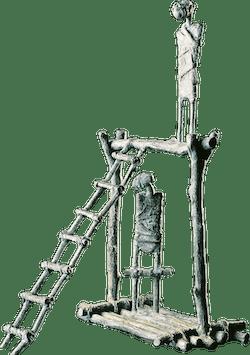 Bronzefigur Der Ausweg von Miguel Sanoja