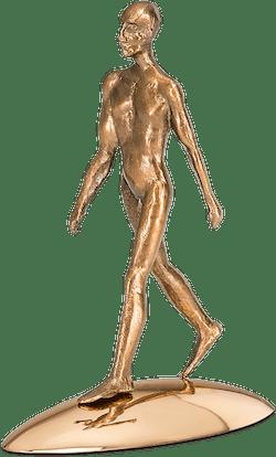 Bronzefigur Reflection of being (him) von Michal Trpák