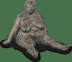 Bronzefigur Sitzende von Anette Mürdter