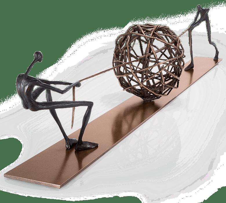 Bronzefigur Tangle von Losada-Casanova