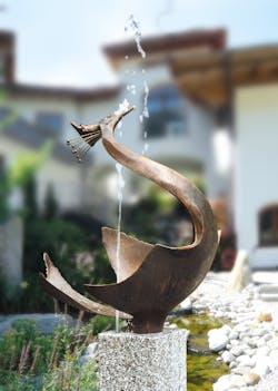 Bronzefigur Reiher von Gustav Nonnenmacher