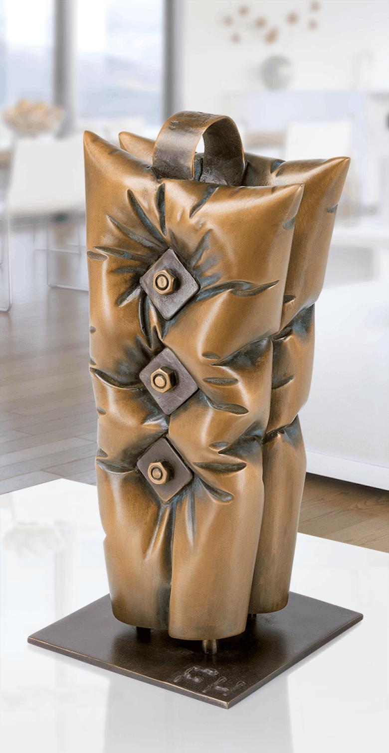 Bronzefigur Support von Felix Haspel