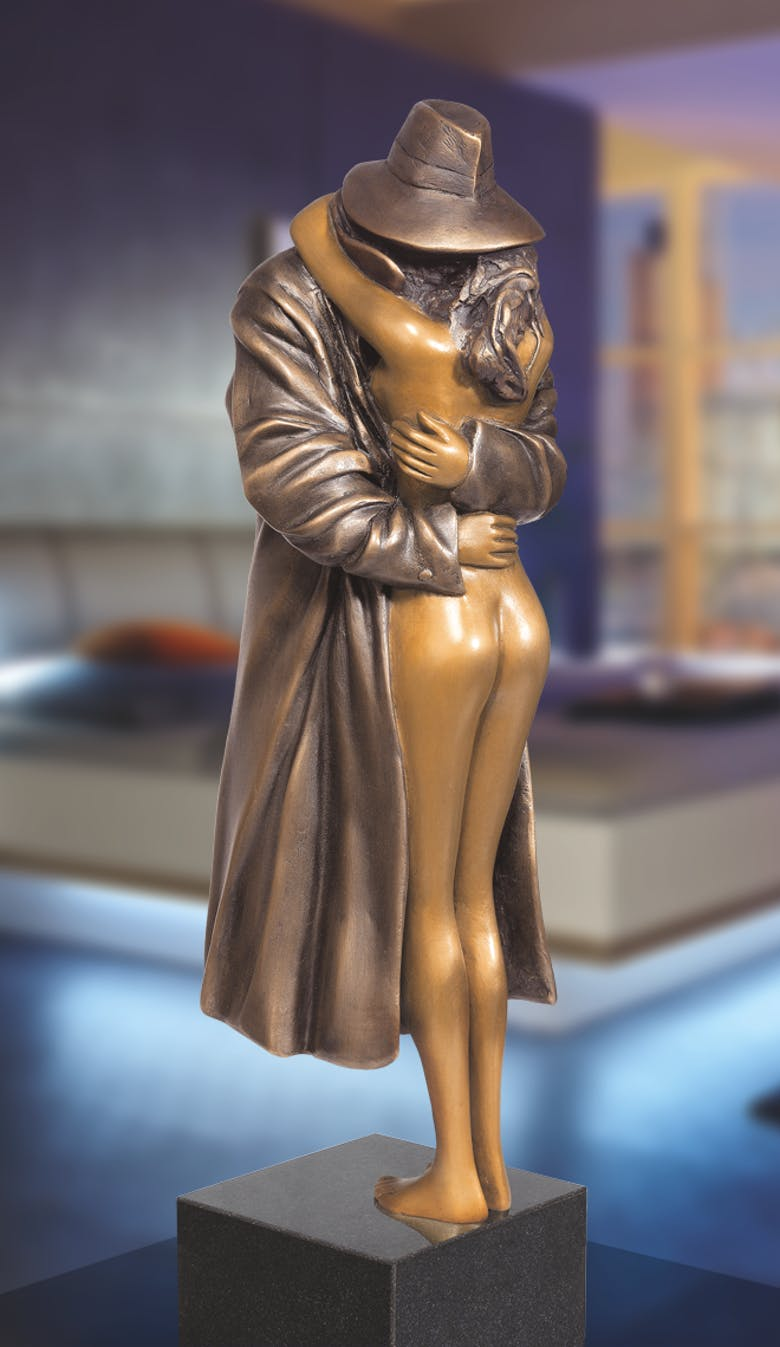 Bronzefigur The Kiss von Bruno Bruni