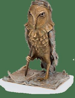 Bronzefigur Chouette Artiste von Boulloche