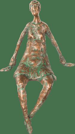 Bronzefigur Dialog, sitzend von Gudrun Rienhardt