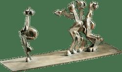 Bronzefigur Faunisches Spiel von Wolfgang Knorr