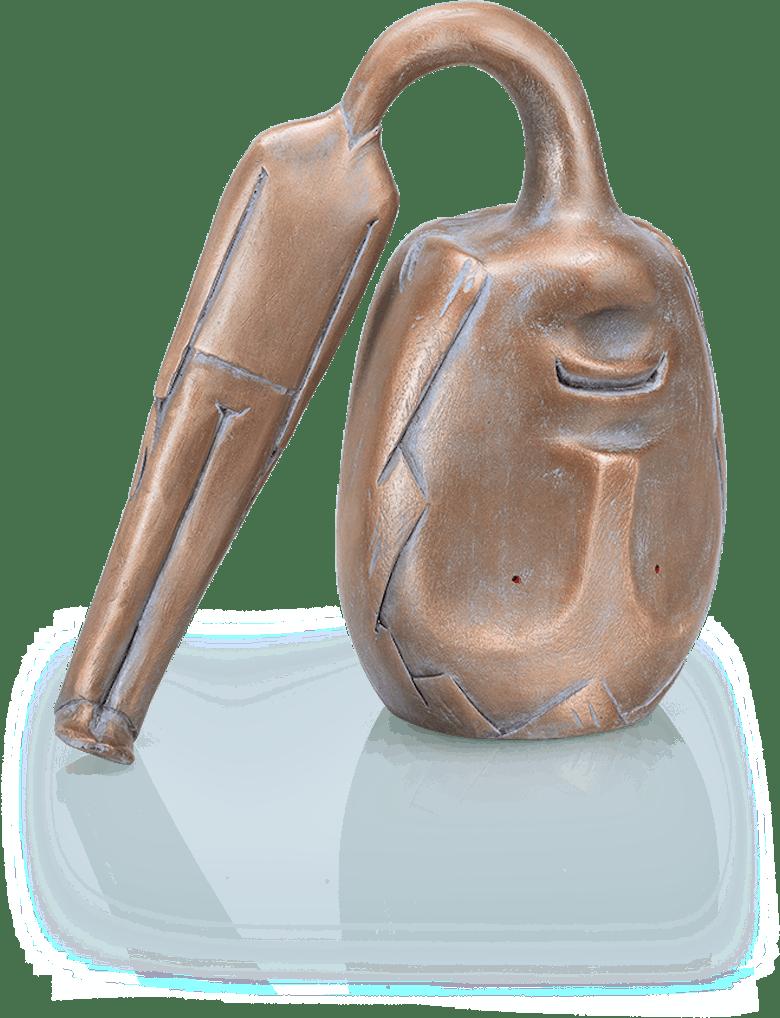 Bronzefigur Testa pesante von Ivar Lardschneider