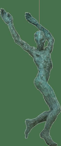 Bronzefigur Spirit von Gudrun Steen-Andersen