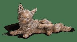 Bronzefigur Jungfuchs, kratzend von Atelier Strassacker