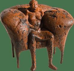Bronzefigur Ersesselt von Anette Mürdter