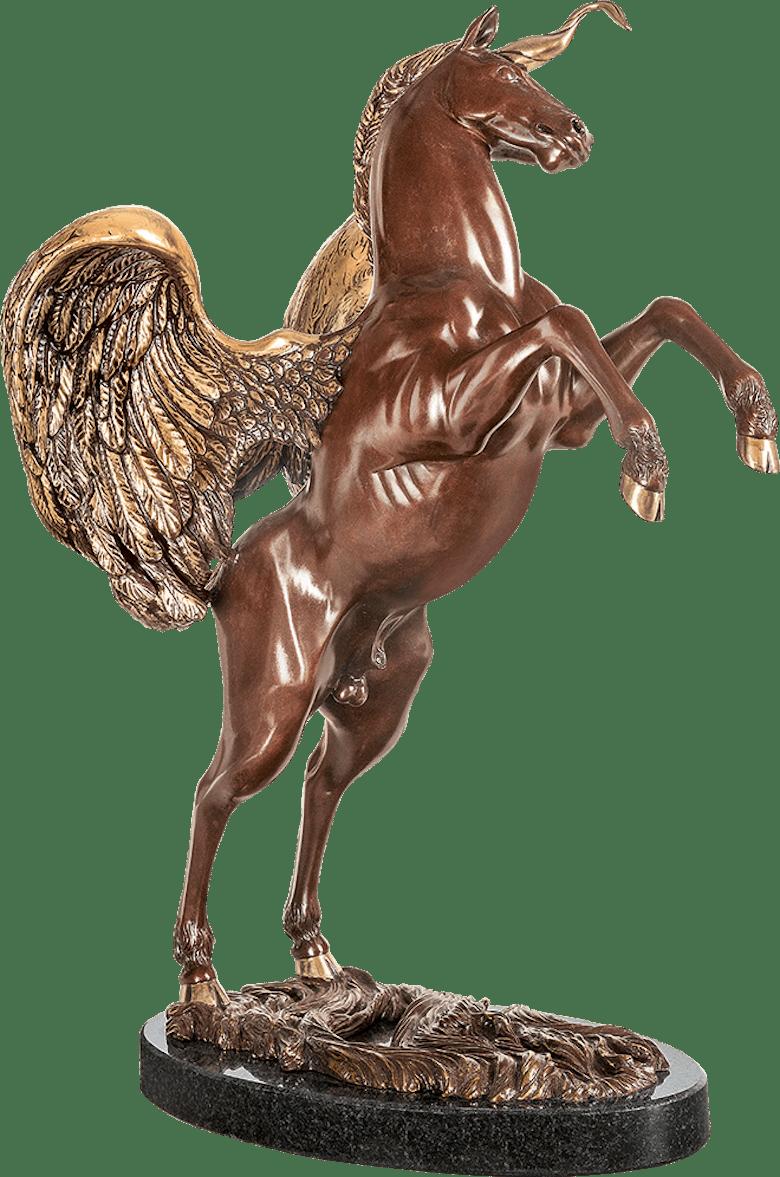 Bronzefigur Mein Einhorn Pegasus von Ernst Fuchs