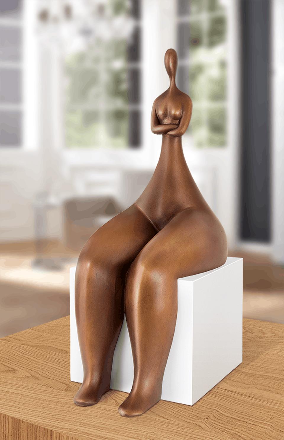 Bronzefigur Adagio von Marie-Madeleine Gautier