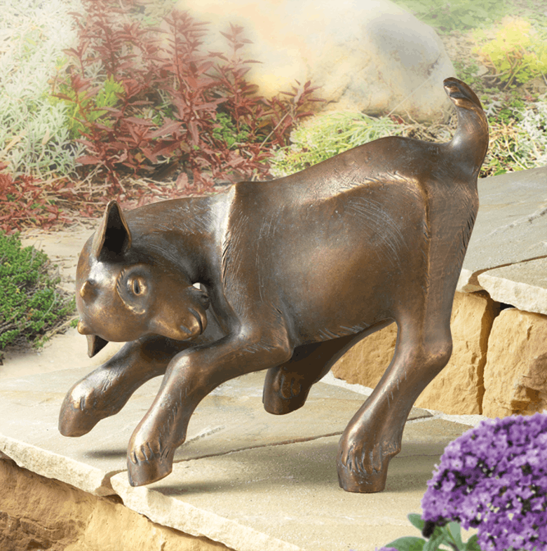 Bronzefigur Springendes Zicklein von Atelier Strassacker