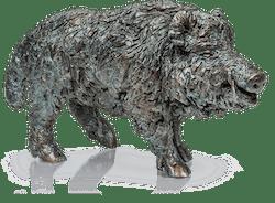Bronzefigur »Keiler, stehend« von Gabriele Haslinger