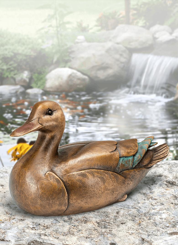 Bronzeskulptur Ente
