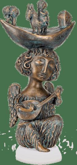 Bronzefigur Weihnachtslied von Yalonetski