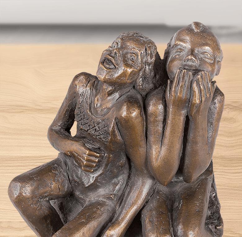 Bronzefigur himmelhoch jauchzend von Ute Prinzhausen