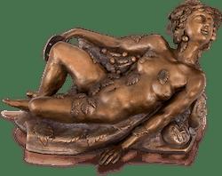 Bronzefigur Maskerade von Kaikaoss