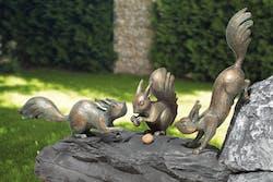 Bronzefigur 3 Eichhörnchen als Set von Atelier Strassacker
