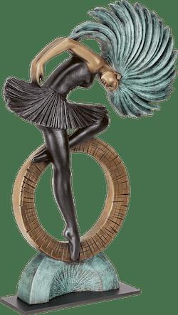 Bronzefigur Tanzendes Mädchen von Ernest Demez
