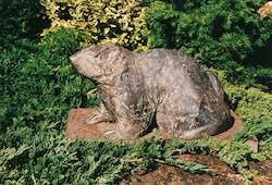 Bronzefigur Murmeltier von Theophil Steinbrenner